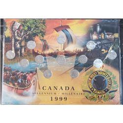 Canada Millennium 1999 25 Cents set