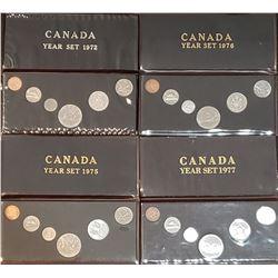 Canada 1972 Year Set Canada 1975 Year Set Canada 1976 Year Set Canada 1977 Year Set