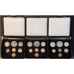 Lot of 3 Canada Double Penny Coin Sets