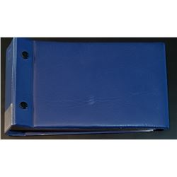 Note Binder with protective sleeves