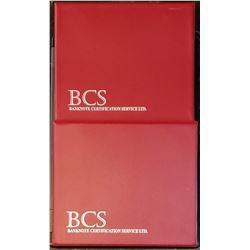 Lot of 2 BCS Binders with sleeves