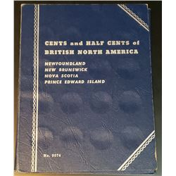 Whitman Cents and Half Cents of British North America (NFLD, NB, NS, PEI) Folder