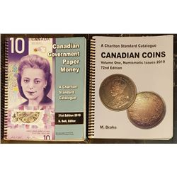 Charlton Canadian Paper Money 2019 and Candian Coins Numismatic Issues  2019 Catalogues
