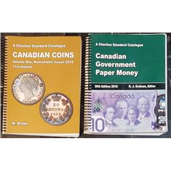 Charlton Canadian Paper Money 2018 and Candian Coins Numismatic Issues 2018 Catalogues