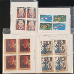 Lot of 4 Canada Stamps Sets