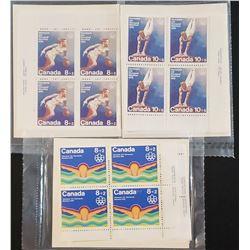 Lot of 3 1976 XXI Montréal Olympics Canada Stamps