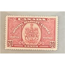 Special Delivery - 20 cents 1938 - Canadian stamp, never hinged, Very Fine, only 200 000 made