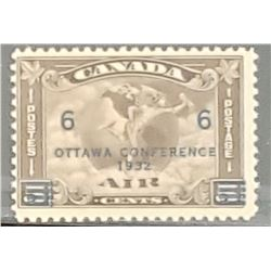 Air, Mercury - 6 cents/5 cents 1932 Canadian Stamp
