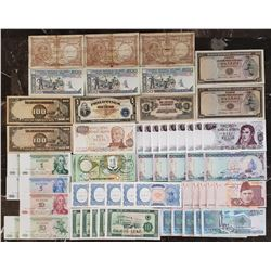Lot of 57 World Notes