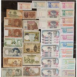 Lot of 43 World Notes