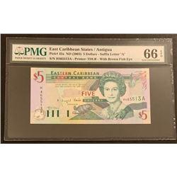 East Caribbean States/Antigua 2003 5 Dollars Gem Uncirculated 66 EPQ