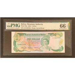 Belize 1980 1 Dollar, Gem Uncirculated 66