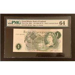 Great Brittain 1966-70 1 Pound, Choice Uncirculated 64