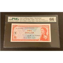 East Caribbean States/Montserrat 1965 1 Dollar, Gem Uncirculated 66 EPQ