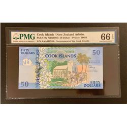 Cook Islands 1992 50 Dollars, Gem uncirculated 66 EPQ