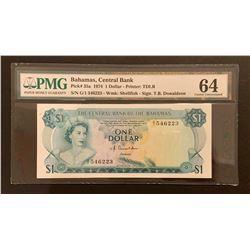 Bahamas 1974  1 Dollar, Choice Uncirculated 64