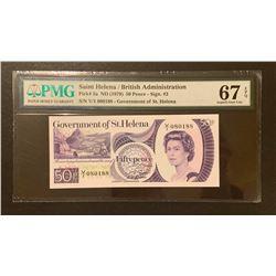 Saint Helena 1979 50 Pence, Superb gem uncirculated 67 EPQ