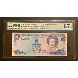 Cayman Islands 2003 1 Dollar, Superb gem uncirculated 67 EPQ
