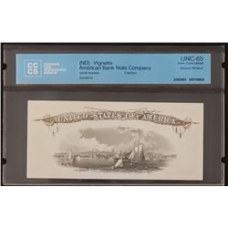 American Bank Note Company Vignette, Boston Harbour, Gem Uncirculated 65