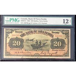 Bank of Nova Scotia 1903 Various/J.Y. Payzant $20, Fine 12
