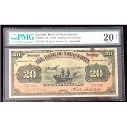 Bank of Nova Scotia 1918 Various/C. Archibald, $20, Very Fine 20