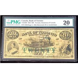 Bank of Toronto 1923 Henwood-Gooderham $20, Very Fine 20