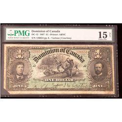 Dominion of Canada 1897 Courtney $1, Choice Fine 15 Net