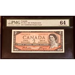 Canada 1954 Beattie-Coyne $2 Replacement *A/B, Choice Uncirculated 64