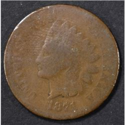 1871 INDIAN CENT AG/G