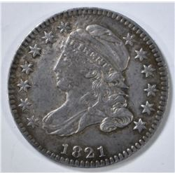 1821 CAPPED BUST DIME XF/AU
