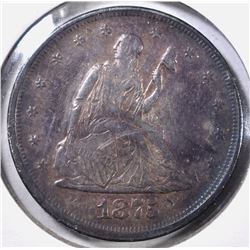 1875 20 CENT PIECE AU MARKS ON OBV