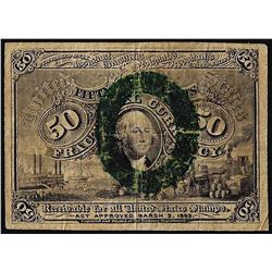 March 3, 1863 Fifty Cents Second Issue Fractional Currency Note