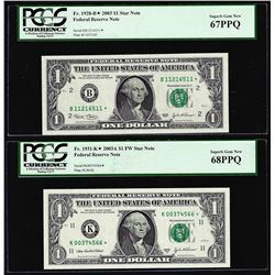 Lot of 2003 & 2003A $1 Federal Reserve STAR Notes PCGS Superb Gem New 67PPQ/68PPQ