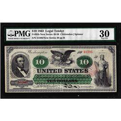 1863 $10 Legal Tender Note Fr.95b PMG Very Fine 30