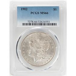 1902 $1 Morgan Silver Dollar Coin PCGS MS66