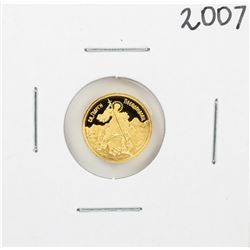 2007 Bulgaria 20 Levs St. George The Victorious 1/20 oz Gold Coin