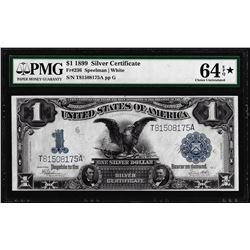 1899 $1 Black Eagle Silver Certificate Note Fr.236 PMG Choice Uncirculated 64EPQ Star