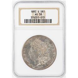 1892-S $1 Morgan Silver Dollar Coin NGC AU58