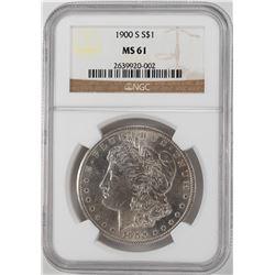 1900-S $1 Morgan Silver Dollar Coin NGC MS61
