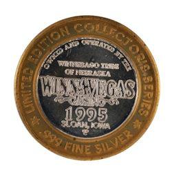 .999 Silver Winnavegas Casino $10 Casino Limited Edition Gaming Token
