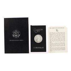 1884-CC $1 Morgan Silver Dollar Coin GSA Hoard w/ Box & COA