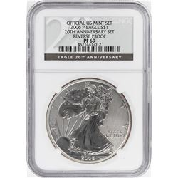 2006-P $1 Reverse Proof American Silver Eagle Coin NGC PF69