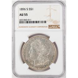 1896-S $1 Morgan Silver Dollar Coin NGC AU55
