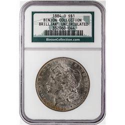 1884-O $1 Morgan Silver Dollar Coin NGC Brilliant Uncirculated Binion Hoard