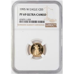 1995-W $5 Proof American Gold Eagle Coin NGC PF69 Ultra Cameo