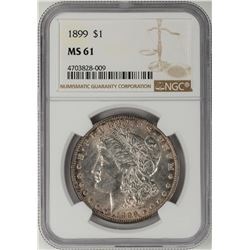 1899 $1 Morgan Silver Dollar Coin NGC MS61