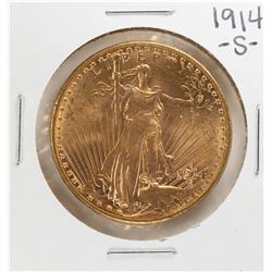 1914-S $20 St. Gaudens Double Eagle Gold Coin