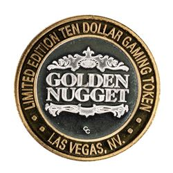 .999 Silver Golden Nugget Las Vegas, Nevada $10 Casino Limited Edition Gaming Token