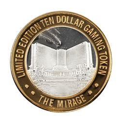 .999 Fine Silver Mirage Las Vegas, Nevada $10 Limited Edition Gaming Token