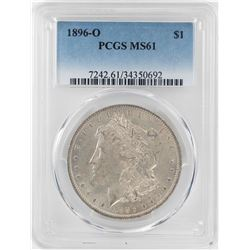 1896-O $1 Morgan Silver Dollar Coin PCGS MS61